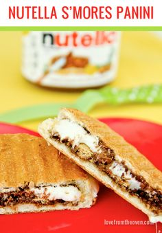 Nutella S'mores Panini.  Now THIS is my kind of sandwich!  And so easy to make!