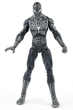 "Marvel Legends Spider-Man 3 Movie BLACK-SUITED SPIDER-MAN 6"" Action Figure 2007 #Hasbro"
