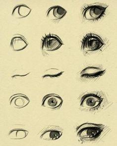 手绘教程、漫画人物线稿、眼睛