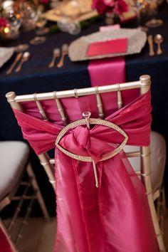 pink chair sash