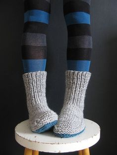 I'm adding these knitted boot slippers to my knitting list. These are perfect for Christmas gifting: Nola Slippers Free Knitting Pattern Knitted Slippers, Crochet Slippers, Knit Or Crochet, Knit Slippers Pattern, Slipper Socks, Knitted Booties, Cardigan Pattern, Knitting Patterns Free, Knit Patterns