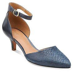5d5211dd409 Clarks Women s Sage Glamor Navy Combination LeatherUS 5.5 M  fashion   clothing  shoes