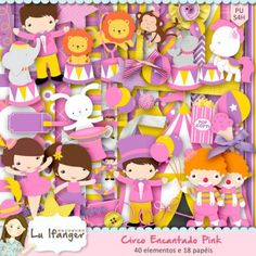 Kit Digital Circo Encantado Pink by Lu Ifanger