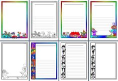 Free Printable page borders with a circus theme