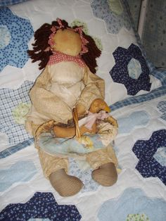Country Rag Doll Attic Babies 1986 Tattered Rustic by NanNasThings, $21.95
