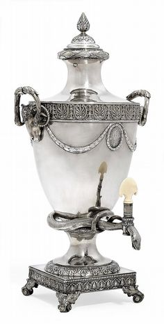 Buy online, view images and see past prices for A GEORGE III SILVER TEA-URN. Invaluable is the world's largest marketplace for art, antiques, and collectibles. Vintage Silver, Antique Silver, 925 Silver, Silver Jewelry, Sterling Silver, Silver Bedroom, Cafetiere, Vase Shapes, Antique Art