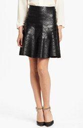 Herve Leger Foiled Skirt