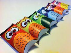 Cajas Almohada de Búhos para Imprimir Gratis. | Ideas y material gratis para fiestas y celebraciones Oh My Fiesta!