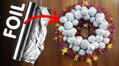 Christmas season is just a month away and its a good time to start collecting ideas for the festive season. Learn how to make this Christmas Ornament out of Satin Ribbons and keep it ready to decorate your X-Mas tree. Holiday Crafts, Christmas Wreaths, Christmas Crafts, Christmas Ornaments, Holiday Decor, Aluminium Foil, 242, Ornament Tutorial, Cool Art Projects