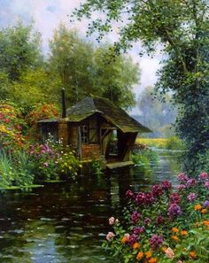 A Beaumont le Roger - Louis Aston Knight - oil painting reproduction Louis Aston Knight, Beautiful Paintings, Beautiful Landscapes, Landscape Art, Landscape Paintings, Oil Paintings, Painting Art, Beautiful Places, Beautiful Pictures