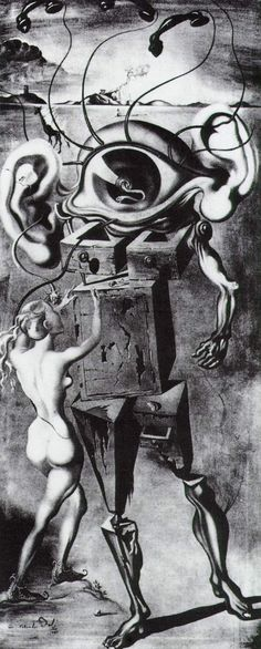 Untitled: The Seven Arts by Salvador Dali, 1944. Destroyed in a fire at the Ziegfeld Theatre, NYC