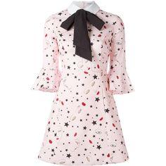 Vivetta Armadillo dress (2.360 BRL) ❤ liked on Polyvore featuring dresses, vivetta dress, vivetta and pink dress
