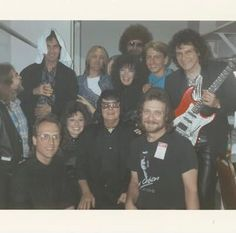 Roy with his band along with his son Roy Jr. and George Harrison, Tom Petty, and Jeff Lyne Losing Your Best Friend, Scotty Moore, Sam Phillips, Travelling Wilburys, Jeff Lynne, Roy Orbison, Muddy Waters, Ray Charles, Tom Petty