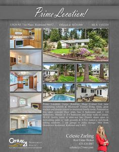 Check out this beautiful Redmond property!! Prime Location, Large Rambler, Huge Corner Lot near outstanding schools & Microsoft!   Contact @celestezarling for inquiries. MLS# 1102235