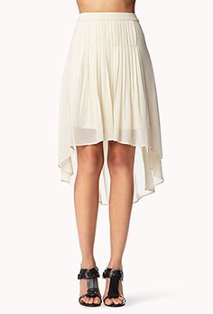 Box Pleated High-Low Skirt | FOREVER 21 - 2045862980