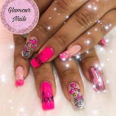 Manicure, Nails, Glamour, Beauty, Glitter Gel Nails, Nail Designs, Nail Decorations, Picture Wall, Nail Bar