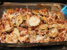 poivre, feuille de laurier, huile, courgette, chair à saucisse, oignon, beurre, ail, persil, herbes de provence, coulis de tomate, fromage râpé