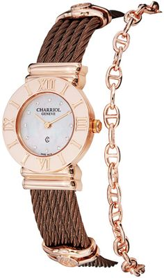 Charriol Women's 'St Tropez' Diamond Dial Bronze Steel Quartz Watch ** To view further for this item, visit the image link. Jewelry Clasps, Steel Chain, Pearl Diamond, Luxury Watches For Men, Beautiful Watches, Stainless Steel Bracelet, Quartz Watch, Gold Watch, Philippe Charriol