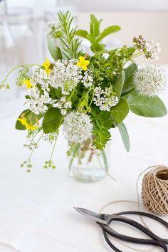 Herb Flower Arrangement via Country Living