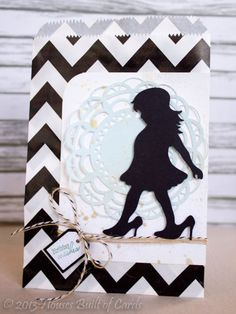 Silhouette Gift Bag by housesbuiltofcards - Cards and Paper Crafts at Splitcoaststampers Vinyl Projects, Craft Projects, Tiny Tags, Dress Up Boxes, Bday Cards, Scrap, Card Sketches, Card Tags, Creative Cards