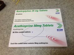 Arrow generics: amitriptyline v. azathioprine. h/t @tablet_girl