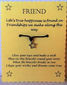 Wish Bracelet Card Template
