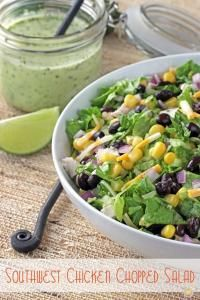 SW Chicken Chopped Salad is bursting with flavor and the perfect summer salad!