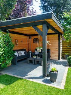 Backyard Pavilion, Backyard Gazebo, Backyard Seating, Outdoor Pergola, Backyard Landscaping, Garden Bar Shed, Hot Tub Garden, Back Garden Design, Garden Landscape Design