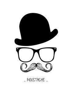 Mr. Moustache Art Print