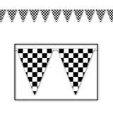 Decorate a racing celebration with our Checkered Flag Pennant Banner! Each banner features pennant flags with a black and white checkered design. Made of all weather material. Great for indoor or outdoor use! Measures x Includes 1 banner per package. Nascar Party, Race Car Party, Disney Cars, Pixar, Hot Wheels Party, Hanging Banner, Hanging Decorations, Checkered Flag, Thing 1