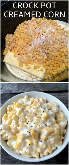 Easy Crock Pot Creamed Corn Recipe for Thanksgiving. All you need is: 20-30 oz of frozen corn, cream cheese 8 oz, ½ cup butter, milk, sugar, salt, & pepper.