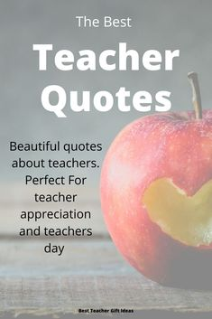 Over 40 amazing quotes about teachers. Find the perfect teachers quotes for teachers day, teachers appreciation, teacher thank you and more. Teacher Thank You Quotes, Motivational Quotes For Teachers, Teacher Appreciation Quotes, Teaching Quotes, Appreciation Gifts, Education Quotes, Grateful Quotes Gratitude, Beautiful Teacher, Best Teacher Gifts