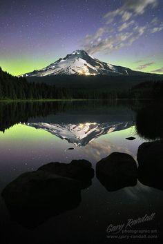 Trillium Lake and Mount Hood, Oregon...'