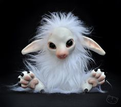 Fantasy | Whimsical | Strange | Mythical | Creative | Creatures | Dolls | Sculptures | White Leshky by LisaToms on deviantART