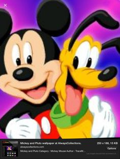 Pluto et Mickey