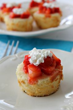 Lemon Pound Cake Cups with Strawberries - The Bitter Side of Sweet #WhenWeBake