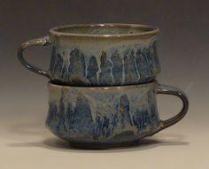 Ceramic Soup Mug Set-2085. $38.00, via Etsy.