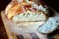 Sourdough bread recipe with starter.