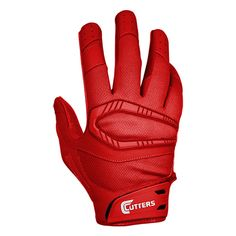 all red nike football gloves