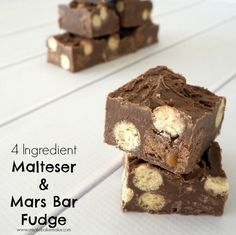4 Ingredient No Bake Malteser and Mars Bar Fudge
