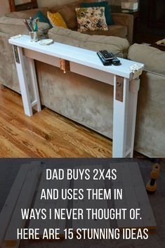 2x4s are so versatile - here are some great DIY projects ideas to enhance your home!  #diy #2x4 #projects