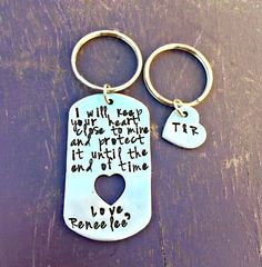 Love Notes, Husband Gifts, Anniversary Presents, Gifts For Men, Love Key Chain, Hand Stamped, Boyfriend Presents, Personalized, Christmas #Etsianstyle #Epiconetsy #handmade #Craftshout #Giftsforher #handstamped #giftsformen #boyfriendgifts #anniversarygifts