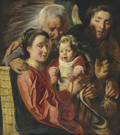 Jacob Jordaens (Antwerp 1593-1678), The Holy Family with an angel