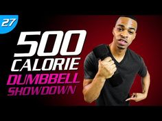 500 Calorie Dumbbell Tabata HIIT Workout | Tone and Tighten