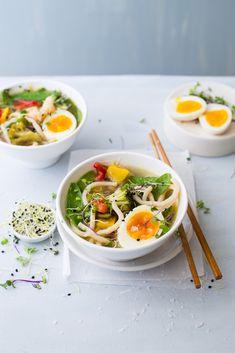 Udon Noodle and Vegetable Broth via @crushonlinemag