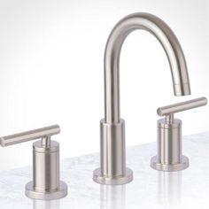 Widespread Bathroom Faucet, Bathroom Sink Faucets, Bathroom Fixtures, Bathrooms, Physical Vapor Deposition, Fitted Bathroom, Master Bathroom, Lake Bathroom, Modern Bathroom