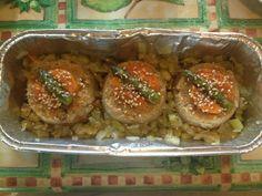 Sformatini di soia e verdure decorati con asparagi e carote glassate! Gnam!!