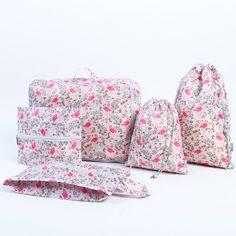 Hot 5pcs beautiful flamingo design Printed waterproof Oxford cloth storage bag Classification package bag free shipping #Affiliate