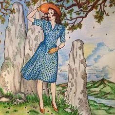 Outlander coloring book -Clair