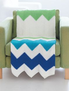 Contemporary Zig Zag Throw